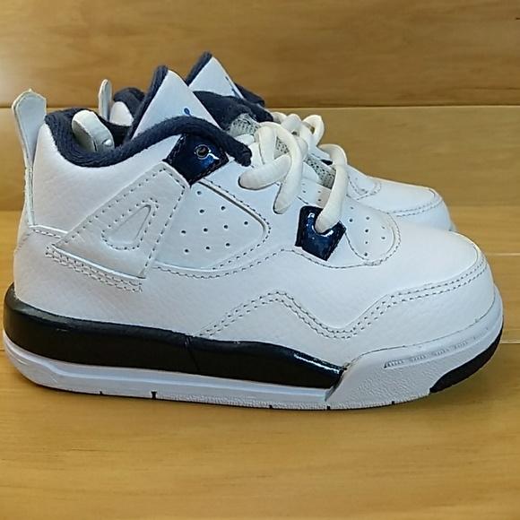 57ed3381440 Jordan Shoes | Air 4 Retro Ls Bt 7c White Legend Blue Navy | Poshmark